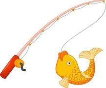 Bent Fishing Pole Clipart .
