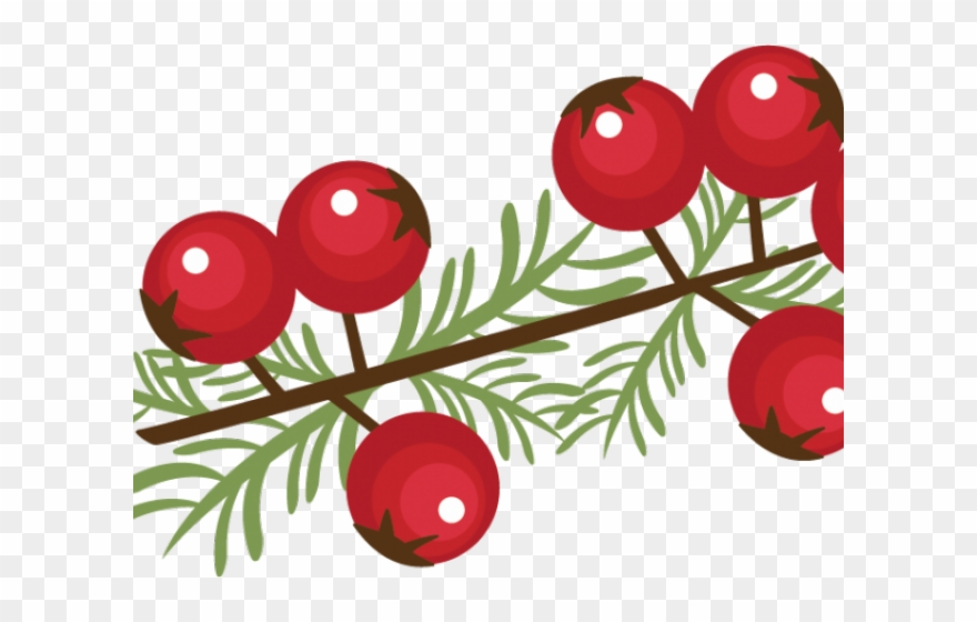 Berry Clipart Winter - Clip Art Christmas Berries - Png Download