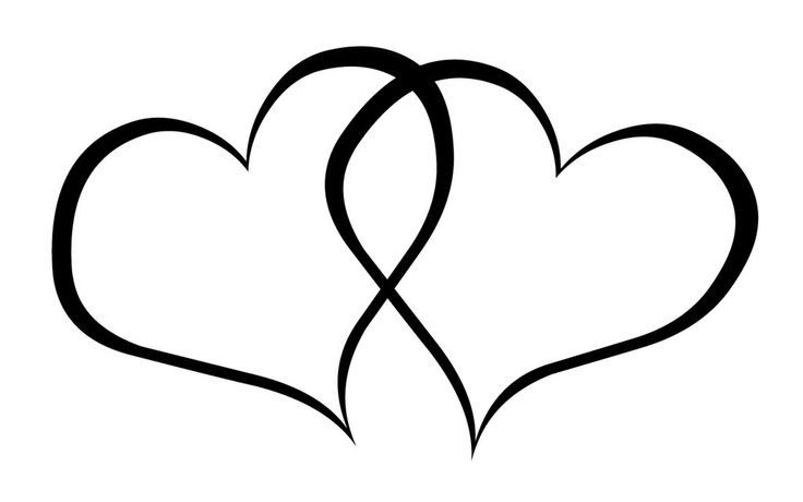 Black And White Heart Clipart