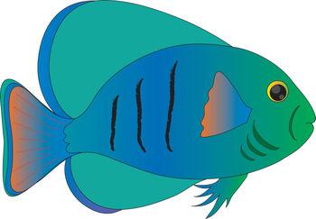 Best Blue Fish Clipart U0026middot; Trop-Best Blue Fish Clipart u0026middot; Tropical Fish Free-1