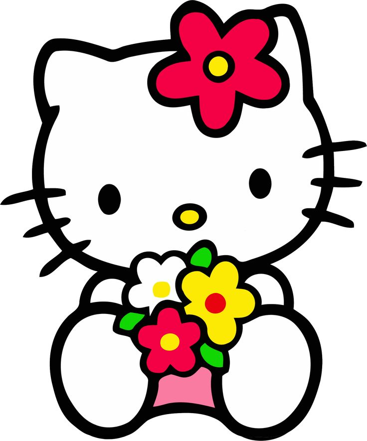 Best Hello Kitty ClipArt No 3 - Kitty and Flowers Here again, our best selection of Hello Kitty ClipArt that you can download for free. This clipart is the
