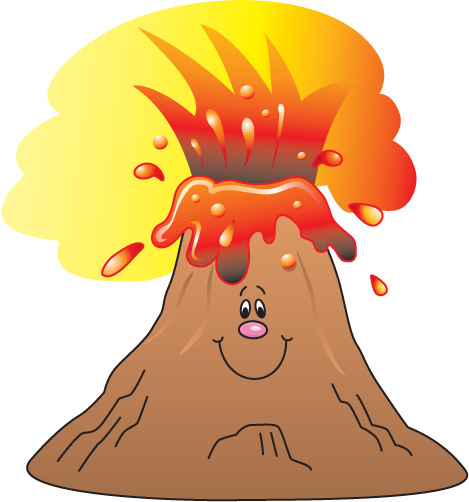 Best Online Collection Of Fre - Volcano Clip Art