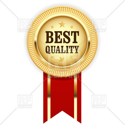 Golden Medal Best Quality With Red Ribbo-Golden medal Best Quality with red ribbon Vector Image u2013 Vector Artwork of  Objects © gomixer ClipartLook.com -11