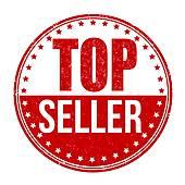 Top seller label · Top seller stamp