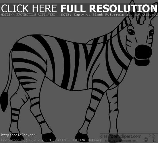Best Zebra Clipart Black And White To Print