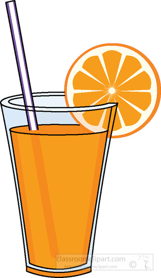 Beverage Clipart : glass-of-orange-juice-straw-2 : Classroom Clipart 318 x 550