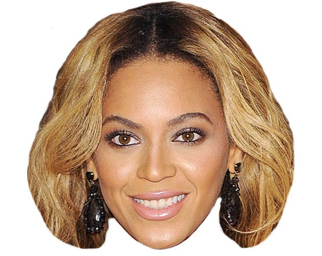 A Cardboard Celebrity Mask Of Beyonce-A Cardboard Celebrity Mask of Beyonce-3