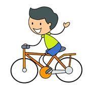 bicycle rider wearing helmet. Size: 76 K-bicycle rider wearing helmet. Size: 76 Kb-18