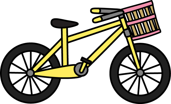 Bicycle with Basket - Bike Clip Art