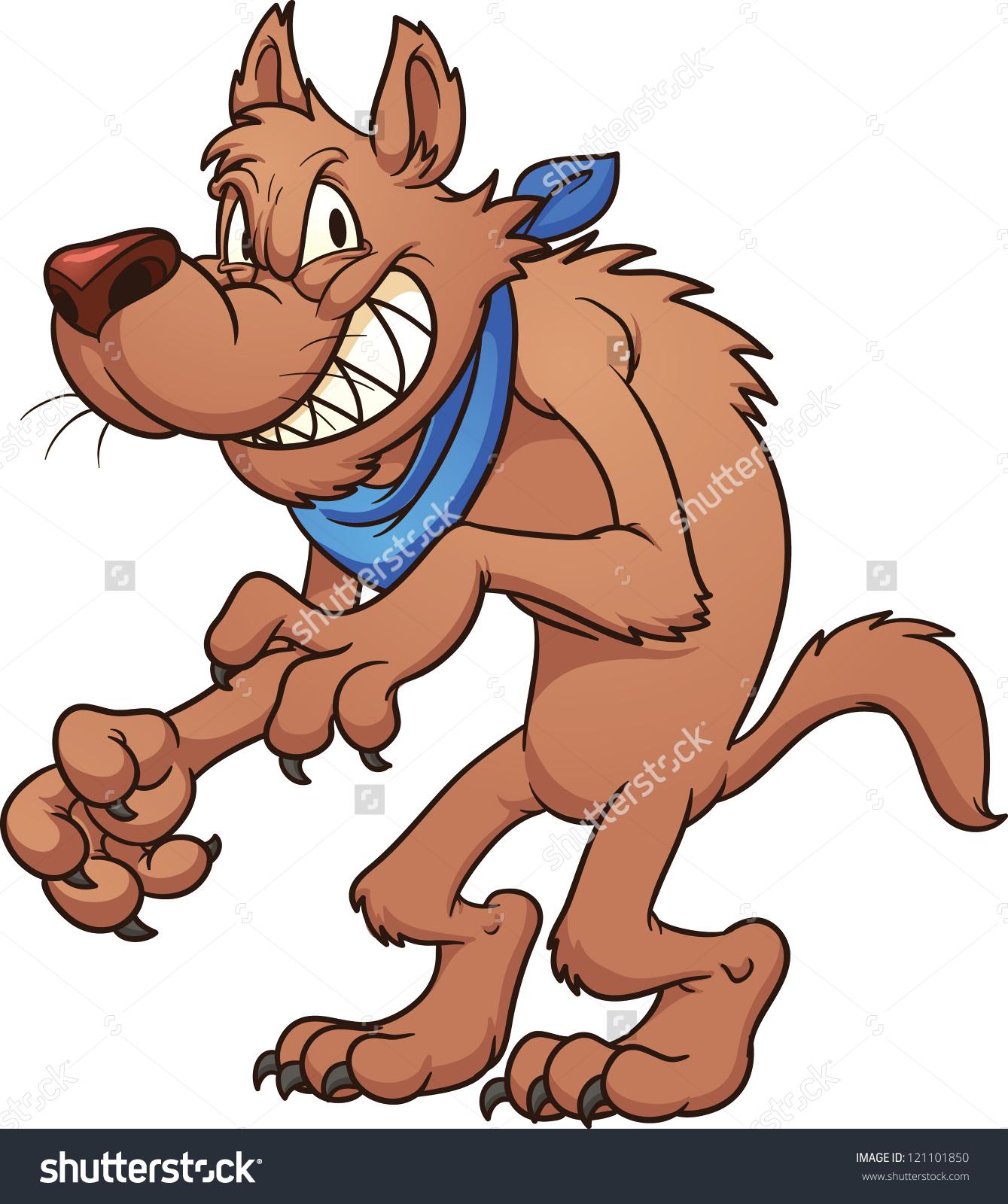 Big bad wolf. Vector clip art - Big Bad Wolf Clipart