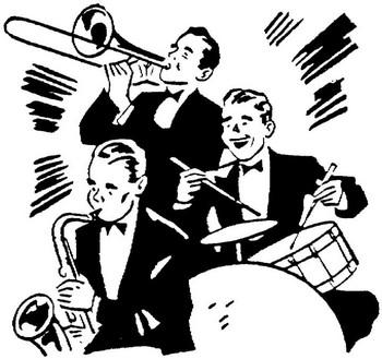 Big Band Clip Art Jazz Rock Silhouette-Big band clip art jazz rock silhouette-9