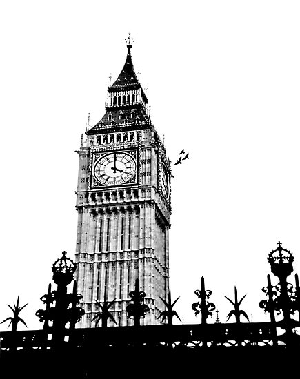 Big Ben Clock - Clipart .
