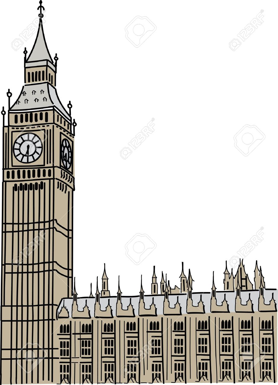 Big Ben in London Stock Vector .