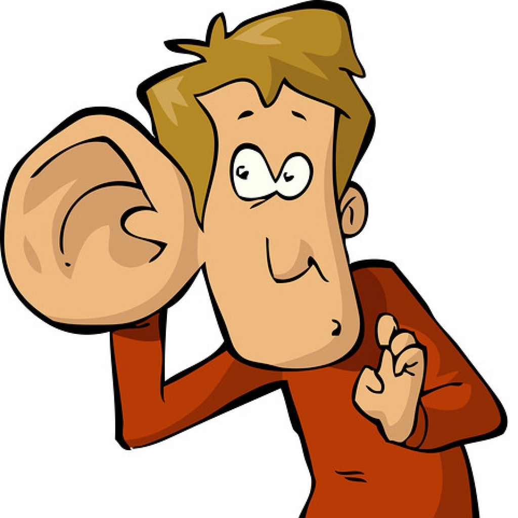 Big ear clipart man with listening