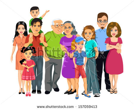 Big Family Clip Art - Big Family Clipart