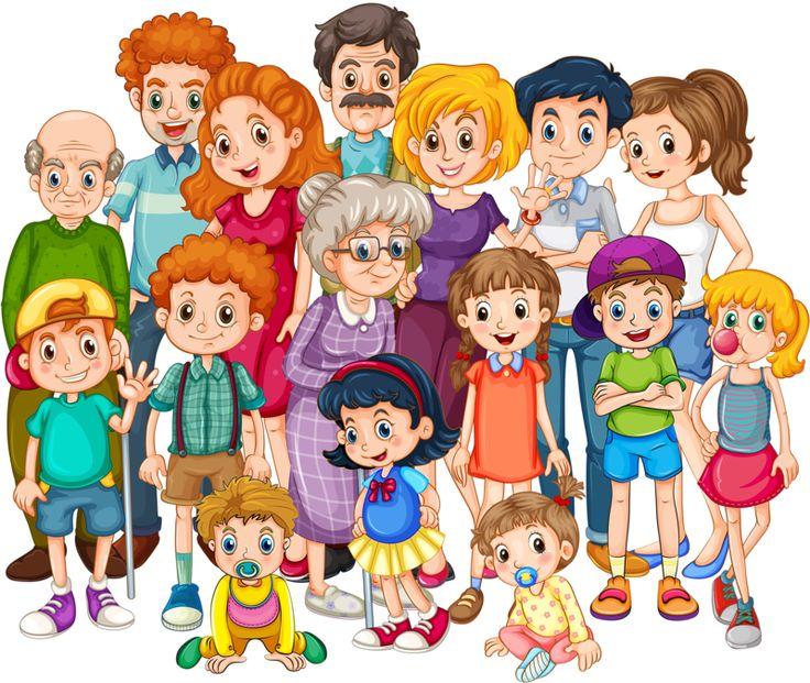 Big Family Clip Art
