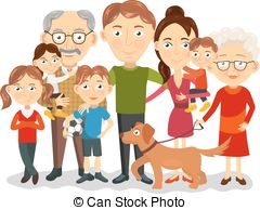 ... Big family portrait ... - Big Family Clipart