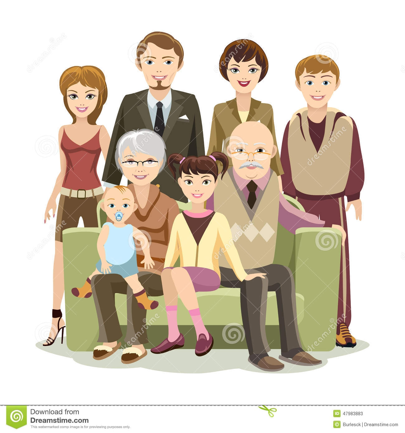 Big Happy Family Clipart
