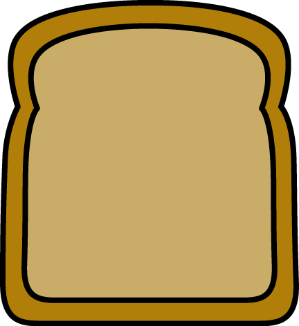 Big Slice of Bread - Bread Clip Art