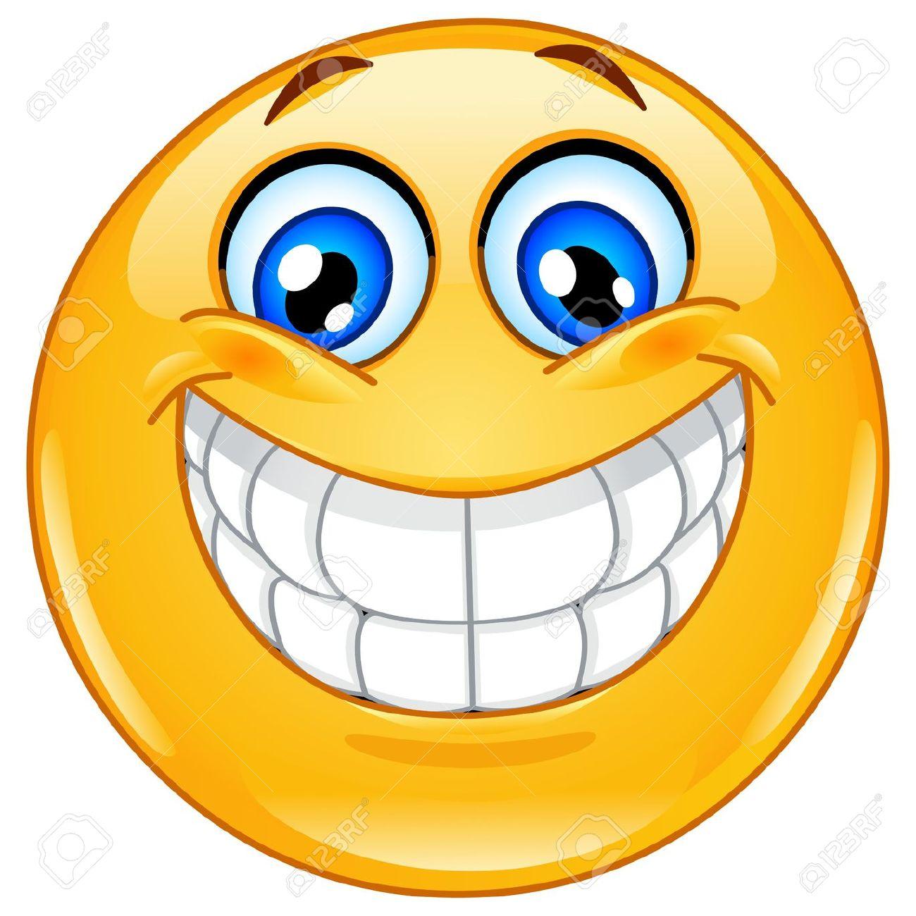 Big Smile Teeth: Emoticon With Big Tooth-big smile teeth: Emoticon with big toothy smile Illustration-8