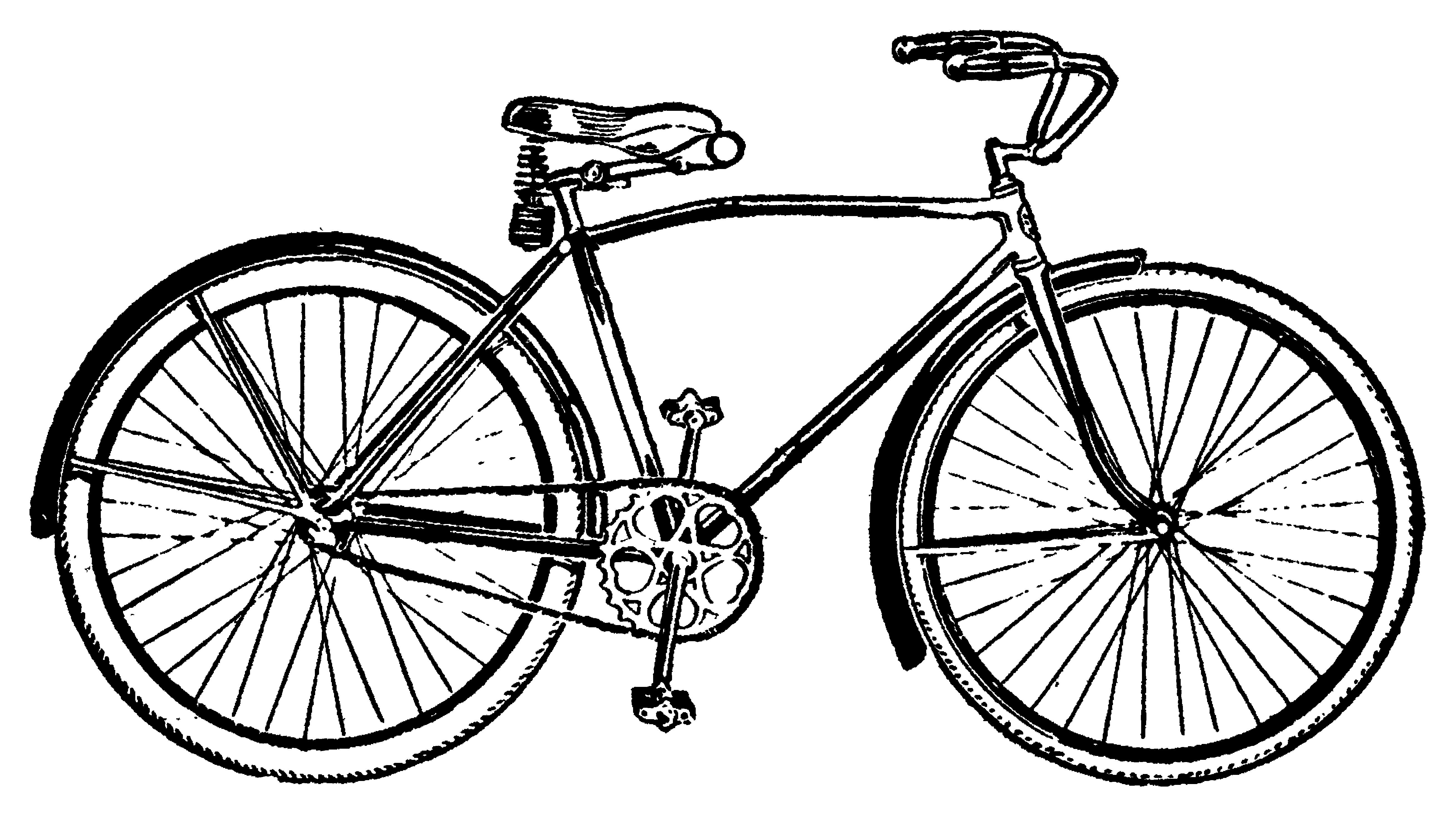 Bike Vintage Bicycle Clip Art .-Bike vintage bicycle clip art .-9