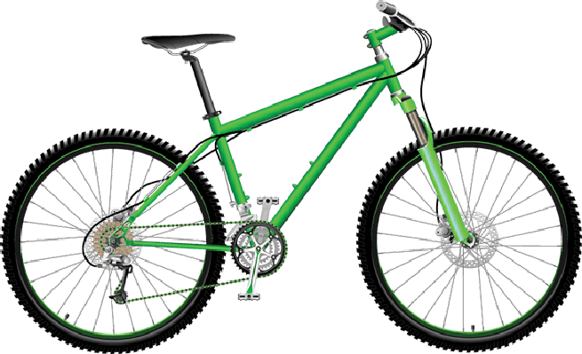Bikes and Bicycles - Green Mo - Bike Clip Art