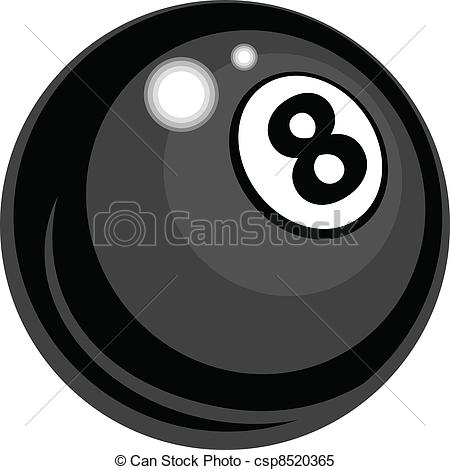 ... Billiards Eight Ball Vector Design - Billiards or Pool Eight.