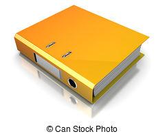 ... binder - 3d illustration of binder folder over white... ...
