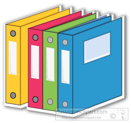 binder many colors clipart .