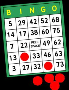 Bingo Cards Clip Art