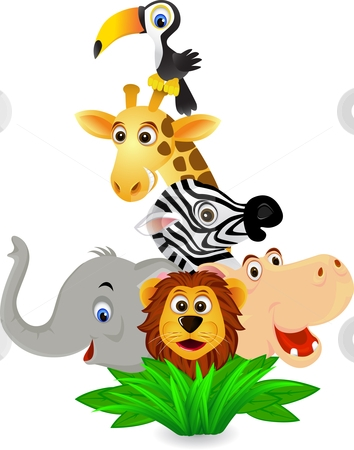 Bingo Cartoon Zoo Animals
