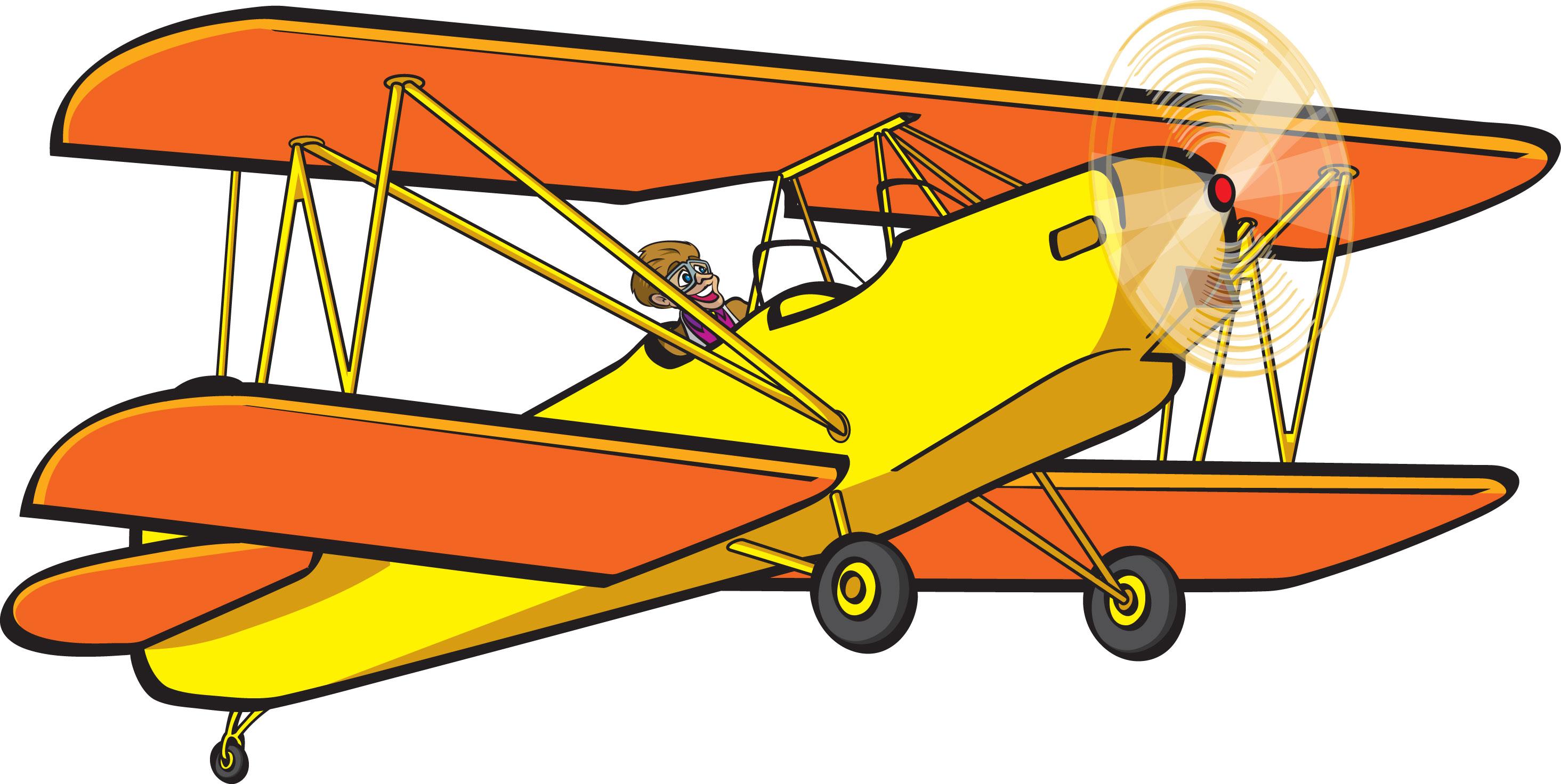 Biplane Clip Art