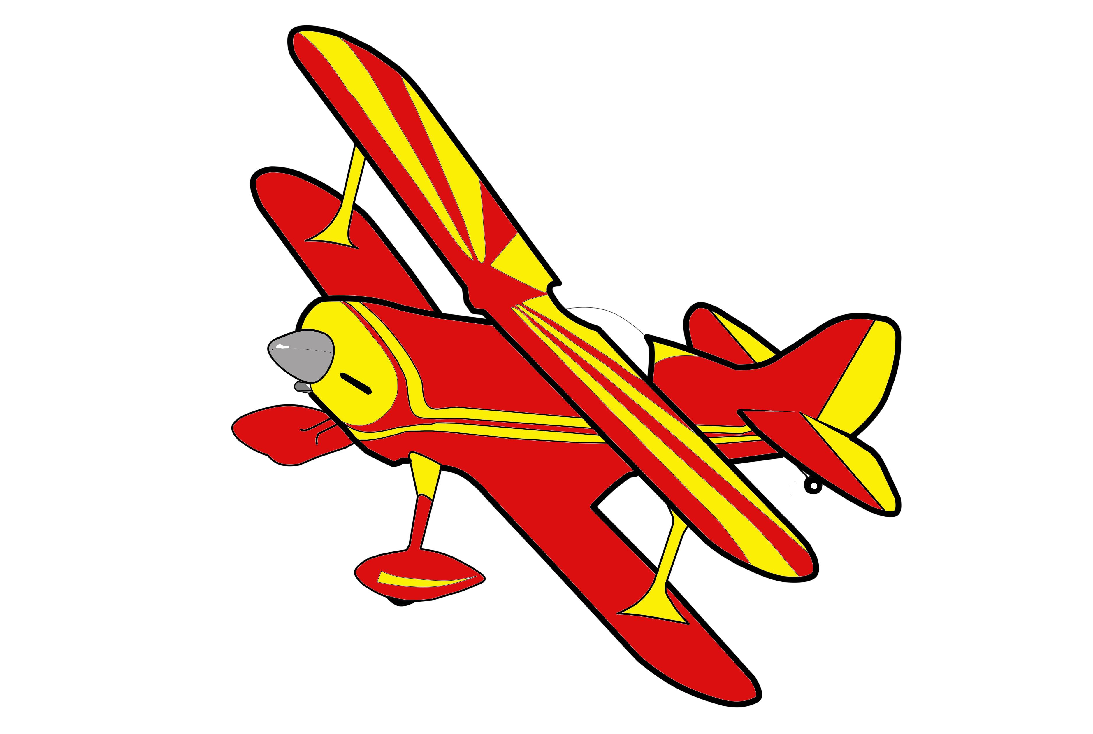 Biplane Clipart