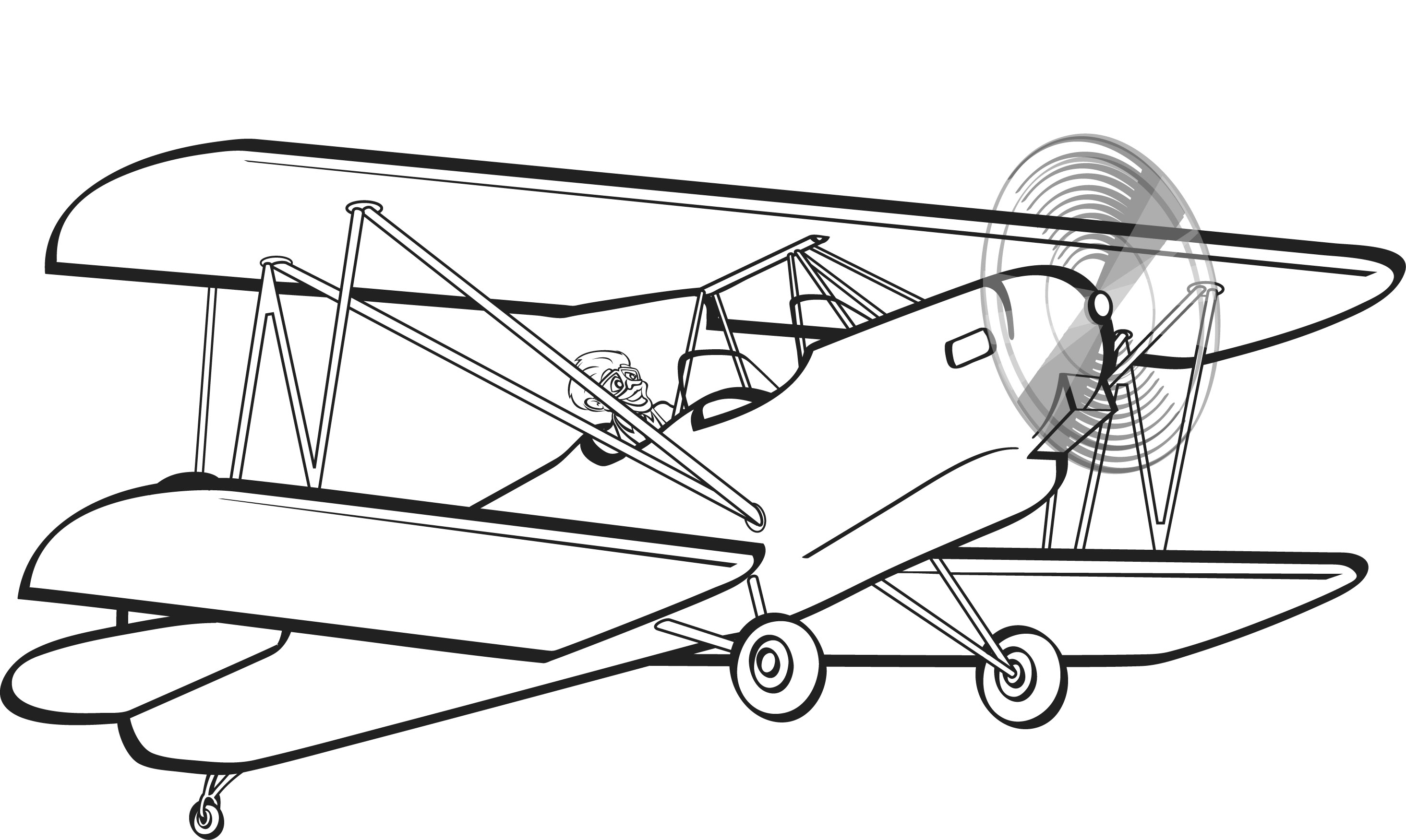 Biplane Clipart Biplane Clipa - Biplane Clipart