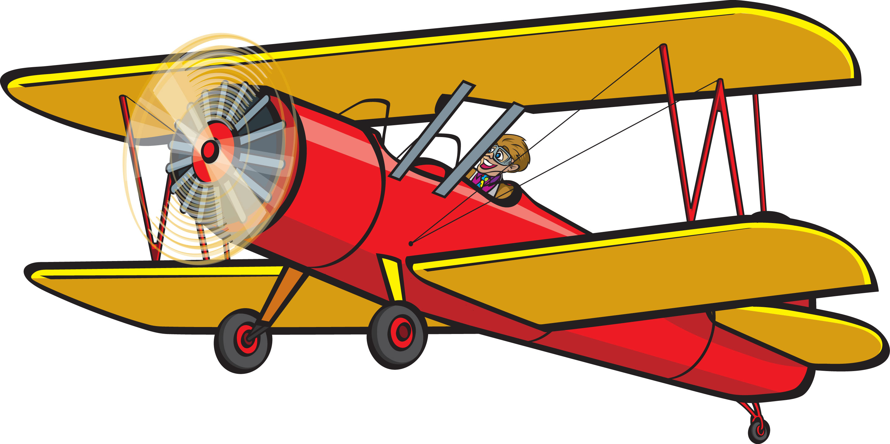 Biplane Clipart Clip Art Signs And Posters