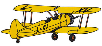 Biplane Stock Illustrations Vectors Clipart Stock