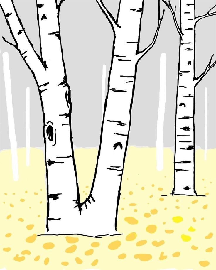 Birch tree graphic