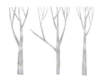 Birch Trees Clip Art Set - Commercial u0026amp; Personal Use