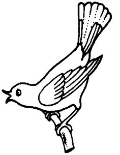 bird clipart black and white  - Bird Clipart Black And White