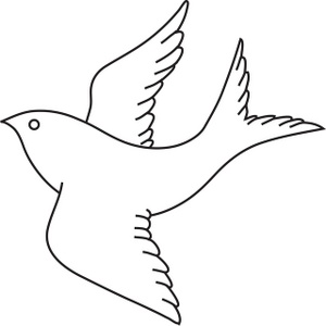 Bird Clipart Image Bird In Flight Outline Drawing Coloring Page