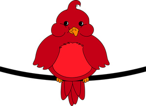 Bird Clipart Image Red Robin .