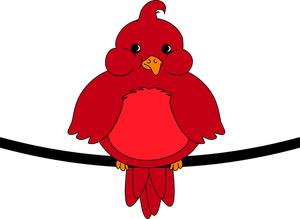Bird Clipart Image Red Robin  - Red Bird Clipart