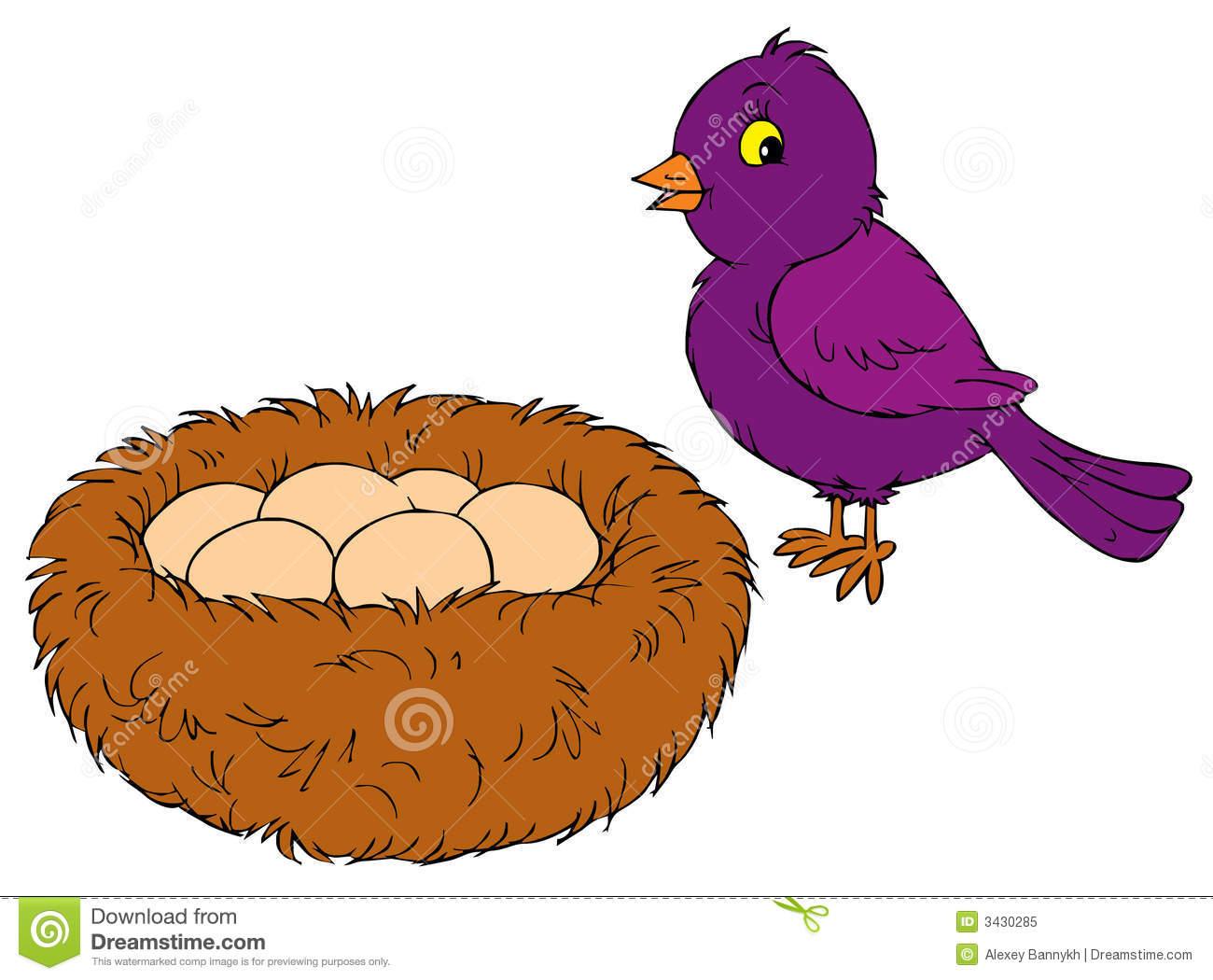 Bird In Nest Clipart Bird And Nest Vector Clip Art