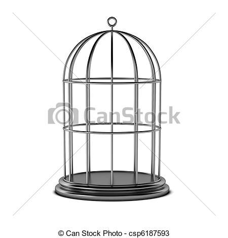 Birdcage Clip Artby Dzxy2/123; 3d Render-Birdcage Clip Artby dzxy2/123; 3d render of bird cage-5