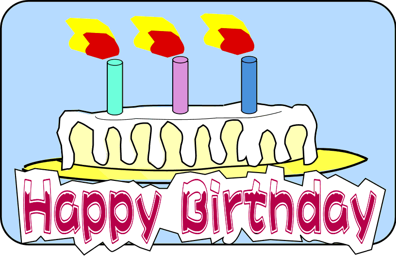 Birthday Clip Art - Happy Birthday Cake Clip Art