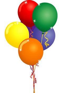 Birthday Clip Art u0026middot; Hot Air Balloon Clip Art