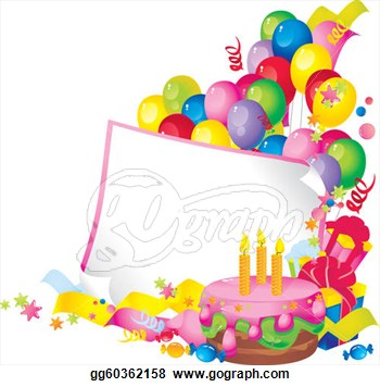 Birthday Borders Clip Art