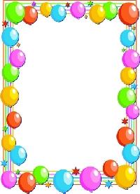 Birthday Balloon Border Clip Art-Birthday Balloon Border Clip Art-1