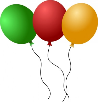 Birthday balloons clipart craft projects
