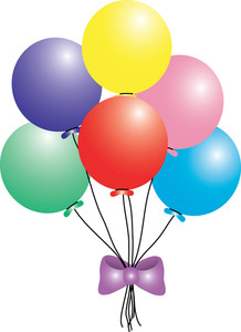 Birthday balloons free happy balloon clip art vector clipart clipartall